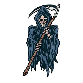 Иллюстрация мрачного жнеца