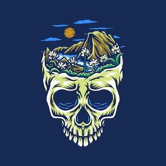 山頭の頭蓋骨