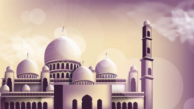 モスクの背景デザイン