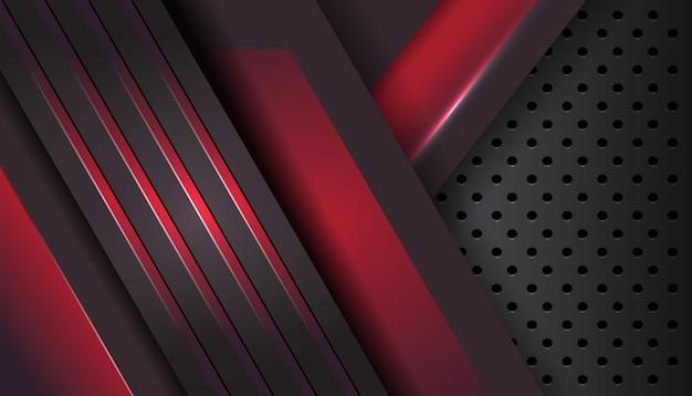 六角形パターンの金属の抽象的な形の重なり層