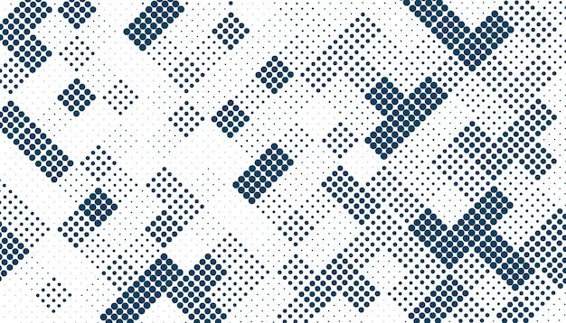 ランダムな正方形のハーフトーンパターン