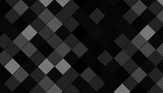 正方形のハーフトーンパターン