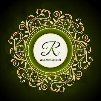 Зеленый цветочный фон бренда отеля