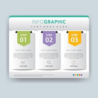 Папка инфографика векторной иллюстрации дизайн