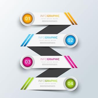 Дизайн шаблона инфографического баннера лестницы