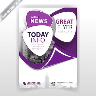 Фиолетовый корпоративный буклет
