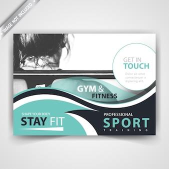 スポーツ広告フライヤーデザイン