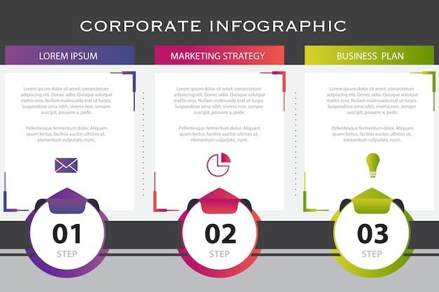 ビジネスインフォグラフィックプレゼンテーションテンプレート