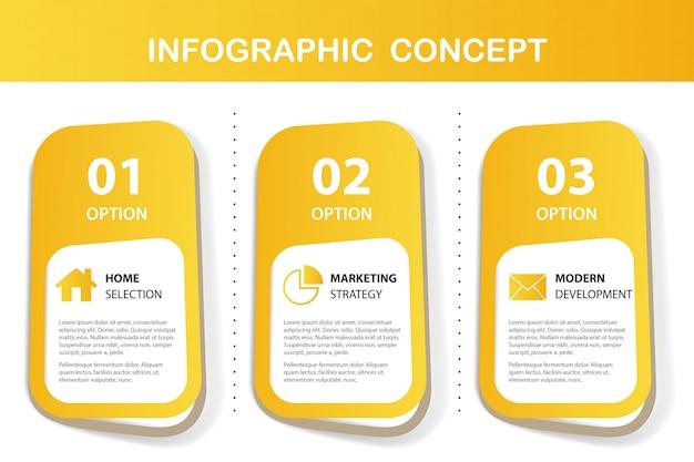 黄色のインフォグラフィックプレゼンテーション