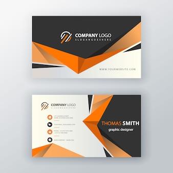 オレンジ色の形の訪問カード