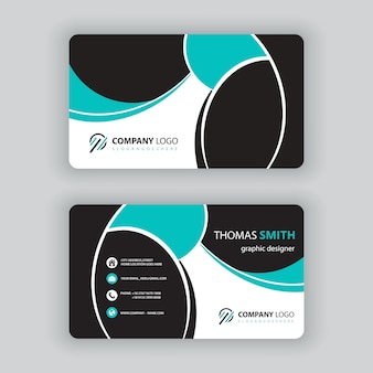 Вектор визитная карточка