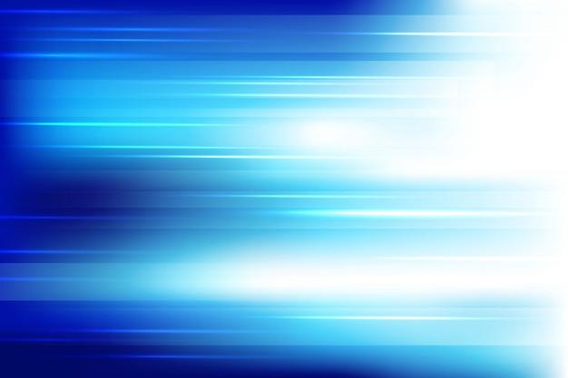 光沢のあるラインの背景を持つ青い光