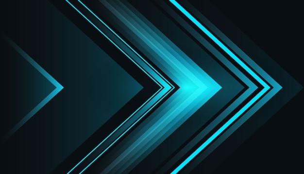 青い光の形の暗い背景