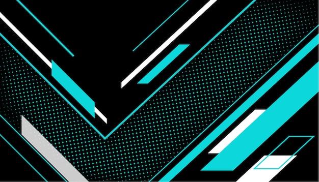 ハーフトーンの背景を持つ幾何学的な線
