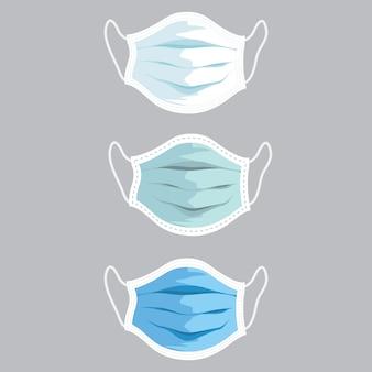 Иллюстрация медицинской маски стороны