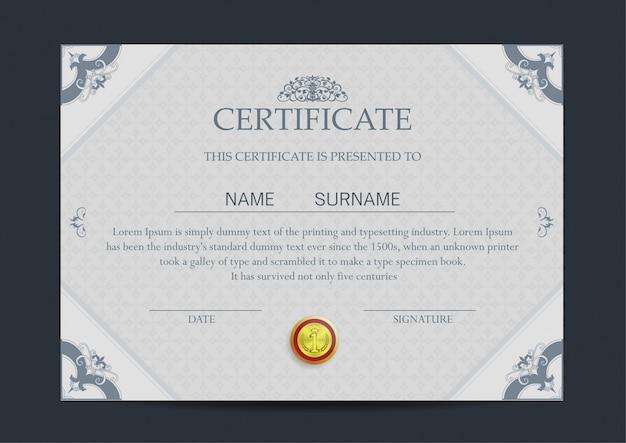 Шаблон роскошного сертификата