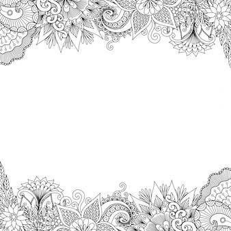 Рамка с цветами
