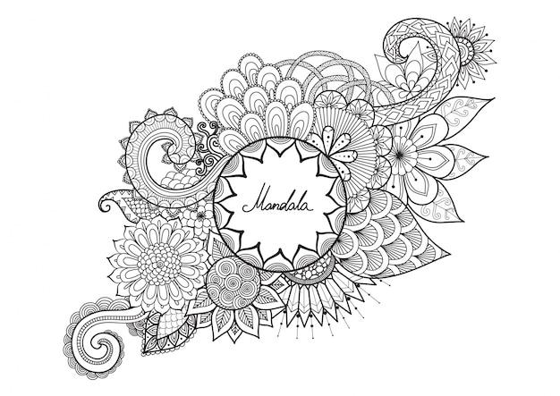 Нарисованный вручную мандалальный фон