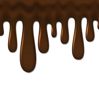 液体チョコレートの背景、