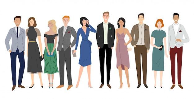 Группа разнообразия деловых людей, стоящих вместе