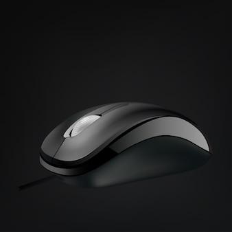 分離されたホイールとコンピューターのマウス