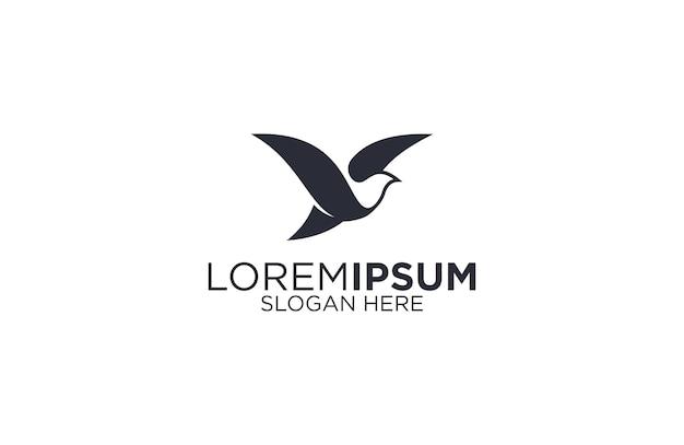 Птица силуэт логотипа векторная иллюстрация