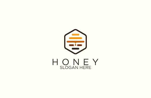 Шестигранная медоносная пчела логотип