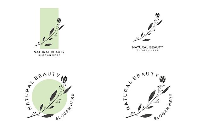 自然の美しさのロゴデザインテンプレート