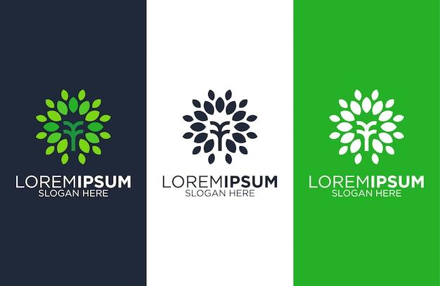 Простые шаблоны дизайна логотипа дерева