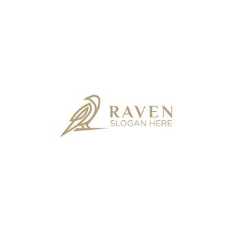 Роскошная воронья линия арт логотип