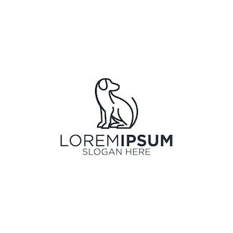 Контурная собака логотип