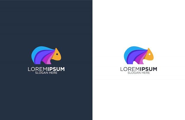 カラフルなウォンバットのロゴのテンプレート