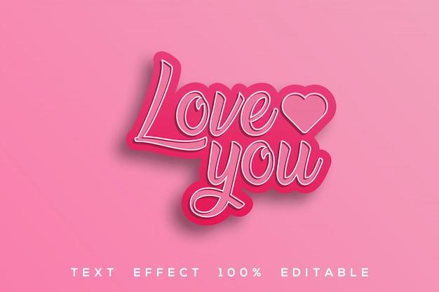 Люблю розовый текст