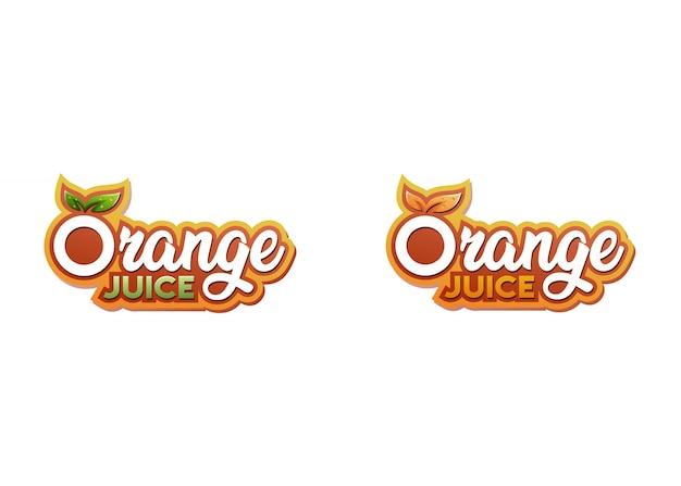 オレンジジュースのロゴのテンプレート