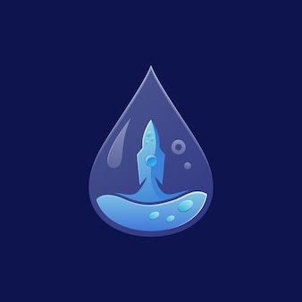 Ракета воды логотип