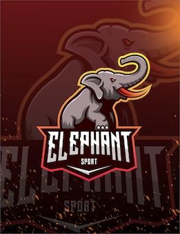 Логотип слон спорт вектор