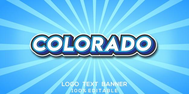 Колорадо текстовый логотип баннер