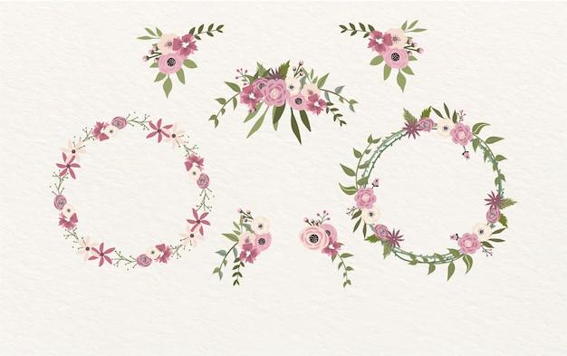 花のフレームと装飾