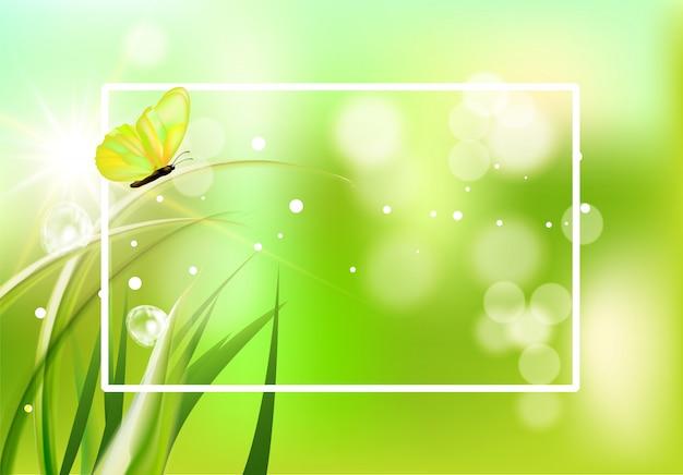 希望に満ちた春の背景