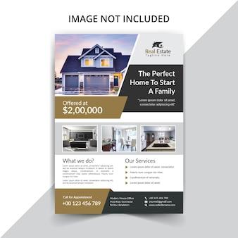 Реальный государственный шаблон флаера для продажи дома