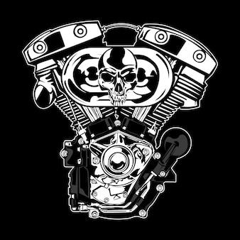 Серебряный моторный дизайн