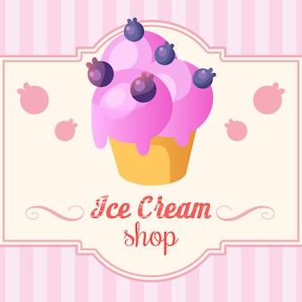 Смешные фоне мороженого.