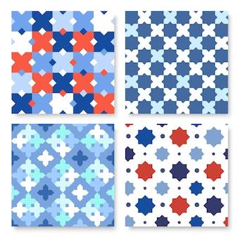 菱形とノードを持つ幾何学的背景。抽象幾何学パターン