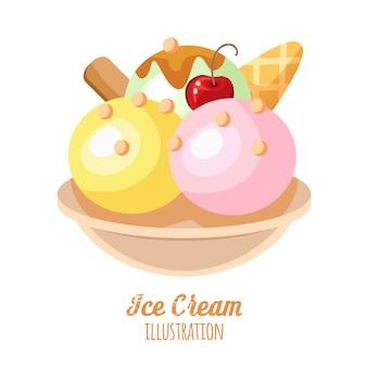 面白いアイスクリームの背景。