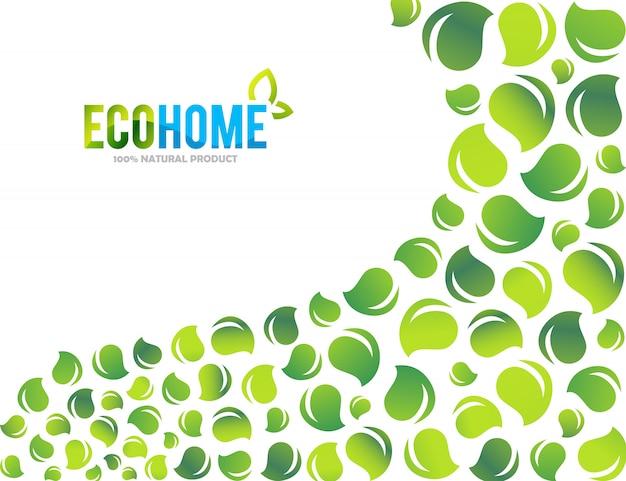 クリエイティブグリーンハウスコンセプトロゴテンプレート