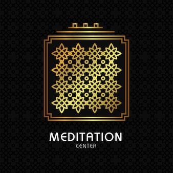 オーガニックテクスチャの背景に禅の瞑想の引用