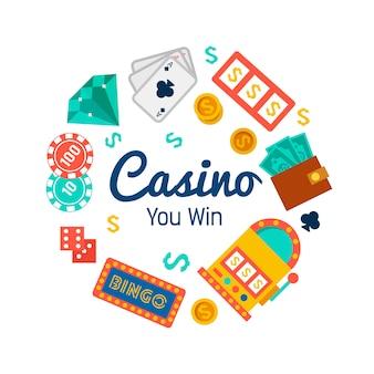 ポーカーの要素を持つカジノの壁紙