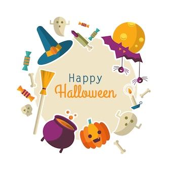 Счастливый фон хэллоуина