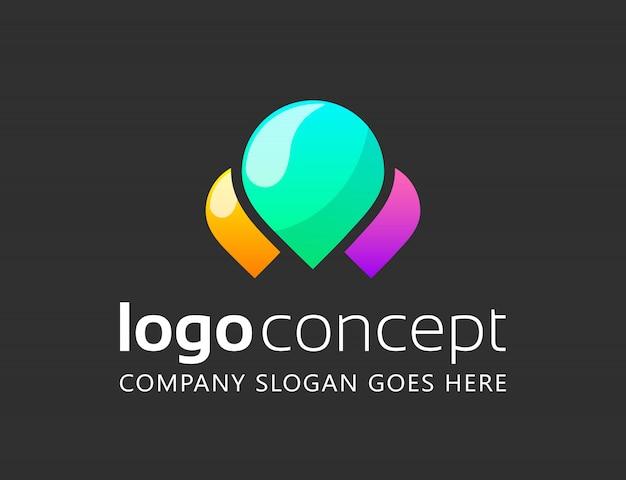 Творческий абстрактный шаблон логотипа.