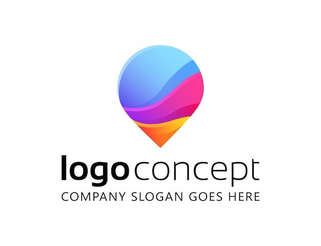 創造的な抽象的なロゴデザインテンプレート。